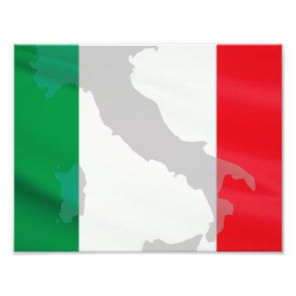 italian flag and Italy Photo Print
