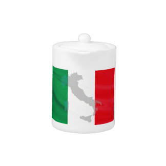 italian flag and Italy Teapot