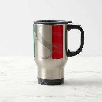 italian flag and Italy Travel Mug