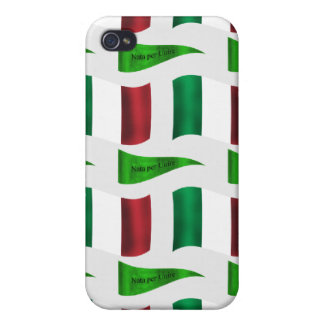 Italian Flag and Motto Cover For iPhone 4