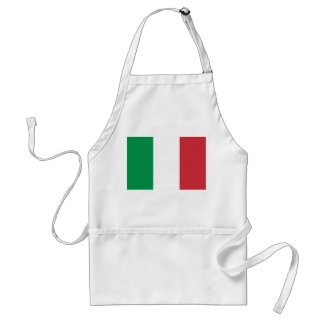 Italian Flag Apron apron