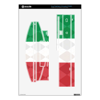 Italian Flag Argyle Playstation 3 Zazzle Skins Decals For PS3 Console