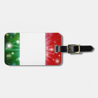 Italian flag background tags for luggage
