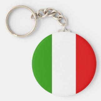 Italian Flag Basic Round Button Keychain
