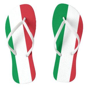442c55104cd4a9 Italian flag beach flip flops for men and women