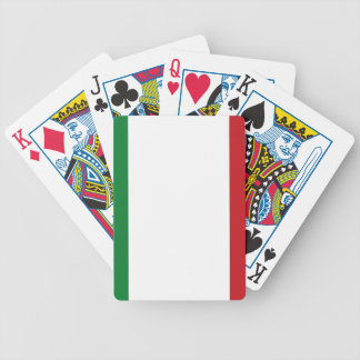 Italian flag bicycle playing cards