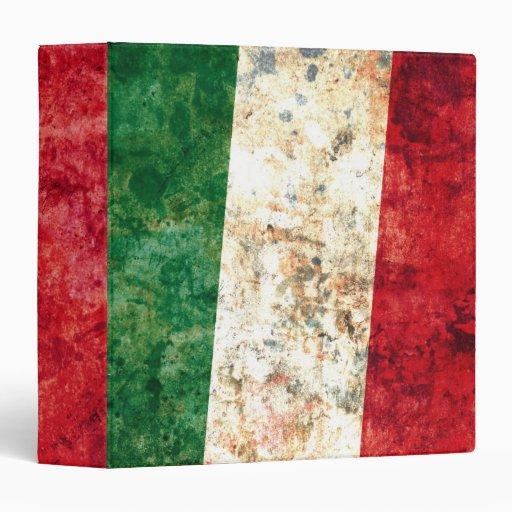 Italian Flag 3 Ring Binder