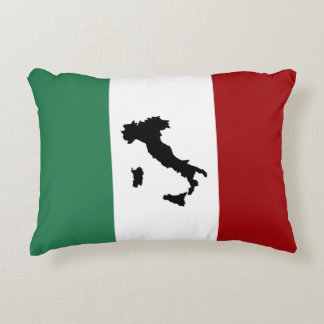 Italian Flag & Boot Accent Pillow
