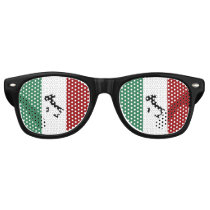 Italian Flag & Boot Retro Sunglasses