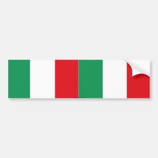 Italian flag bumper sticker car bumper sticker