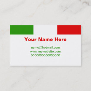 Italy flag business cards templates zazzle italian flag business card colourmoves