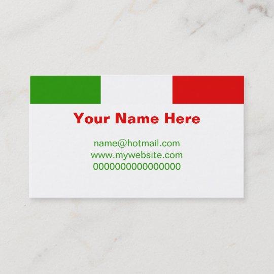 Italian flag business card zazzle italian flag business card colourmoves