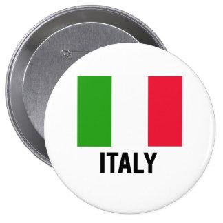 ITALIAN FLAG PINBACK BUTTON