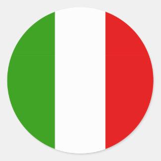 Italian Flag Classic Round Sticker