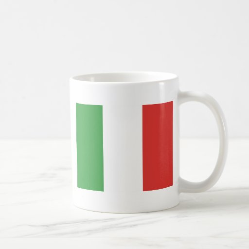 Italian flag classic white coffee mug