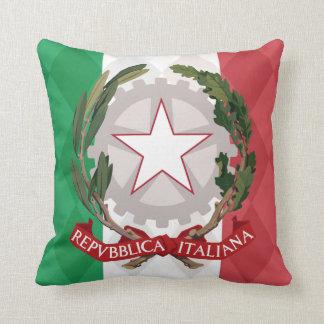 Italian Flag Coat of Arms Argyle  MoJo Pillow