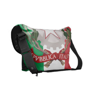 Italian Flag Coat of Arms Rickshaw Messenger Bag