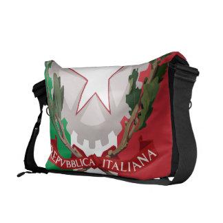 Italian Flag Coat of Arms Rickshaw Messenger Bag