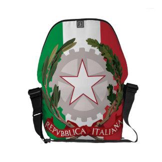 Italian Flag Coat of Arms Small Messenger Bag