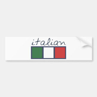 Italian flag colors! bumper sticker