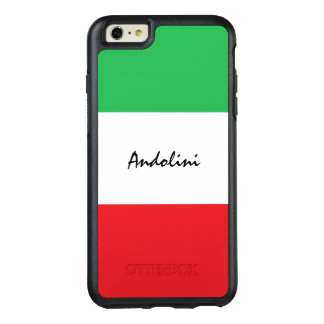 Italian Flag Colors Green White and Red with Name OtterBox iPhone 6/6s Plus Case