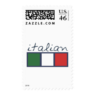 Italian flag colors stamps