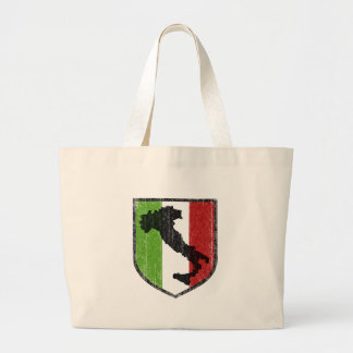 Italian Flag Crest Boot Medieval Large Tote Bag