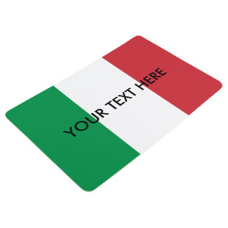 Italian flag custom floor mat | Personalized rug
