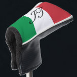 """Italian flag custom initial golf head putter cover<br><div class=""""desc"""">Italian flag golf putter cover with custom monogram letters. Trendy golf club head protection gift for friends and family. Stylish unique golfing gift ideas for him and her; worlds greatest dad, father, papa, best grandpa, step dad, uncle, grandfather, granddad, golfer, business partner, friend, boss, groom, employee, coworker, partner, husband, coach,...</div>"""