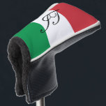 "Italian flag custom initial golf head putter cover<br><div class=""desc"">Italian flag golf putter cover with custom monogram letters. Trendy golf club head protection gift for friends and family. Stylish unique golfing gift ideas for him and her; worlds greatest dad, father, papa, best grandpa, step dad, uncle, grandfather, granddad, golfer, business partner, friend, boss, groom, employee, coworker, partner, husband, coach,...</div>"