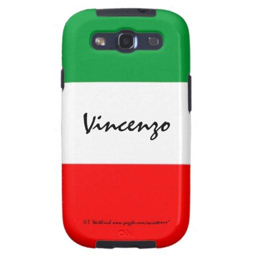 Italian Flag Custom Man's Samsung Case Template Samsung Galaxy S3 Cover