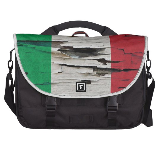 Italian Flag Damask Paint Peel Commuter Laptop Bag
