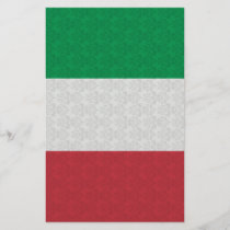 Italian Flag Damask Pattern
