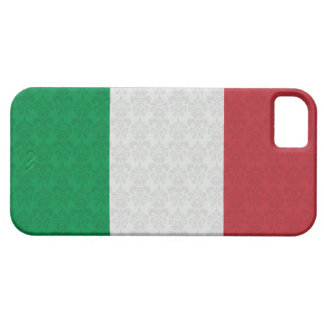 Italian Flag Damask Pattern iPhone 5 Cases