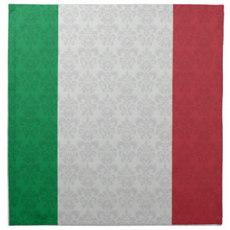 Italian Flag Damask Pattern Cloth Napkin