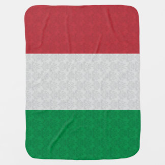 Italian Flag Damask Pattern Receiving Blanket