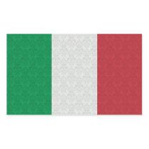 Italian Flag Damask Pattern Rectangular Sticker