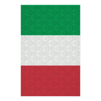 Italian Flag Damask Pattern Stationery