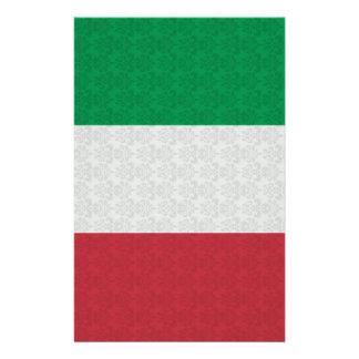 Italian Flag Damask Pattern Stationery