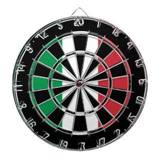 Italian flag dartboard design   Distressed look