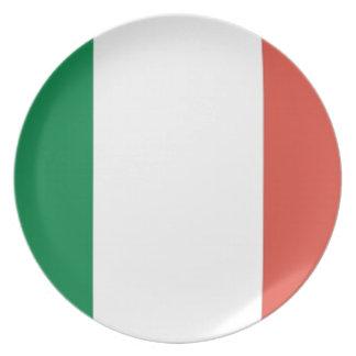 italian flag dinner plate