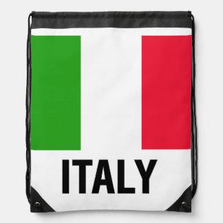 ITALIAN FLAG DRAWSTRING BACKPACK