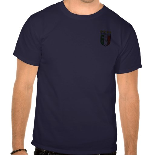 Italian flag emblem badge shirts