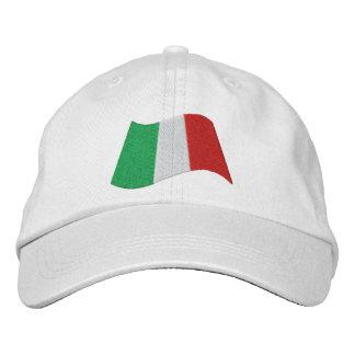 Italian Flag Embroidered Baseball Hat