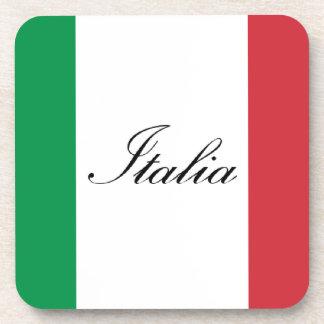 Italian Flag - Flag of Italy - Italia Beverage Coaster