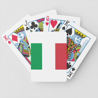 Italian Flag - Flag of Italy - Italia Bicycle Playing Cards