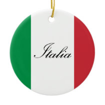 Italian Flag - Flag of Italy - Italia Ceramic Ornament