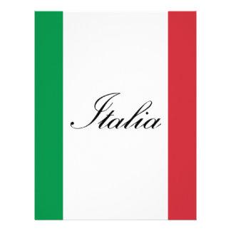 Italian Flag - Flag of Italy -  Italia Letterhead