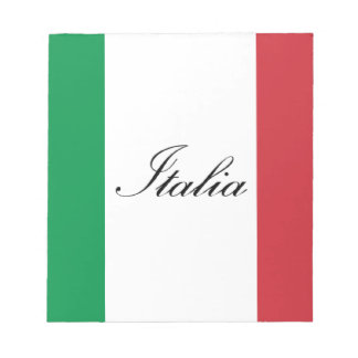 Italian Flag - Flag of Italy -  Italia Notepad