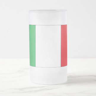 Italian Flag Frosted Glass Frosted Glass Beer Mug